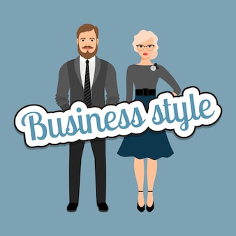 Couple de mode business style rétro