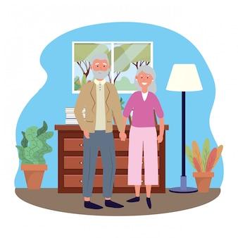Couple de personnes âgées avatar