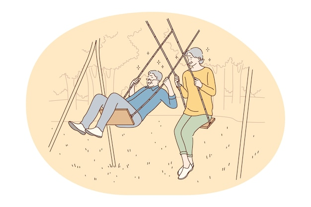 Couple de personnes âgées senior vivant concept de mode de vie actif heureux.