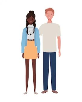 Couple de personnes debout