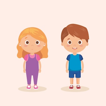 Couple de petits personnages