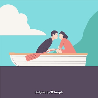 Couple plat en voyage