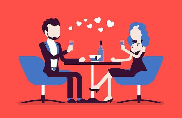 Couple sur un rendez-vous romantique