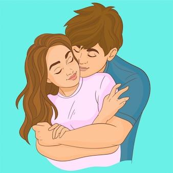 Couple romantique amoureux