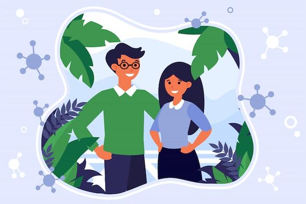 Couple s'échappant d'une pandémie de coronavirus