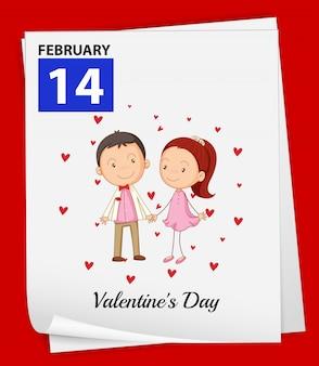 Couple de saint valentin