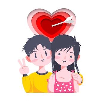 Couple saint valentin