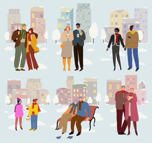 Les couples amoureux à l'extérieur passent du temps ensemble. rencontres, rencontre.