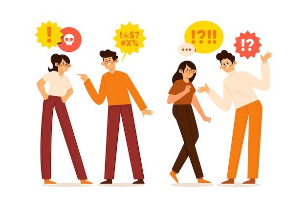 Couples ayant des problèmes relationnels