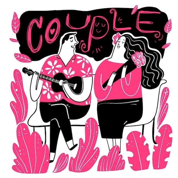 Les couples cherchent chanteur avec amour dans le parc.