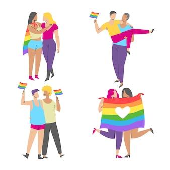 Les couples et les familles célèbrent le jour de la fierté
