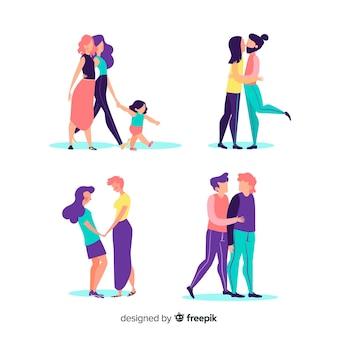 Couples et familles du jour de la fierté