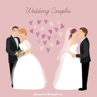 Couples de mariage à l'amour