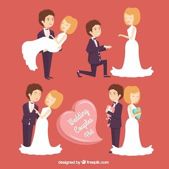 Les couples de mariage à design plat