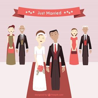 Couples mignons juste marié