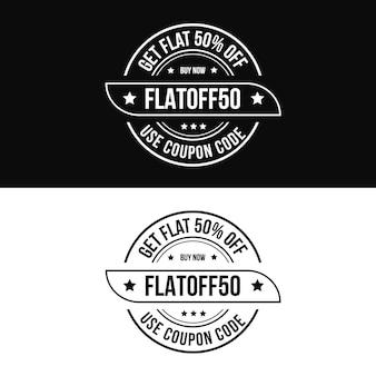 Coupon code produit de réduction logo de timbre pour boutique en ligne vente