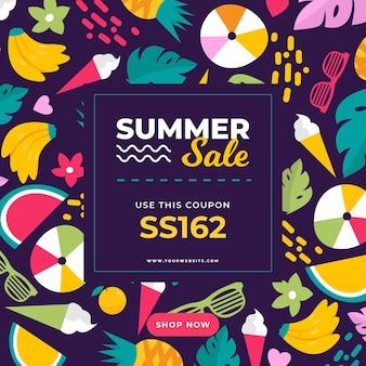 Coupon de vente d'été coloré