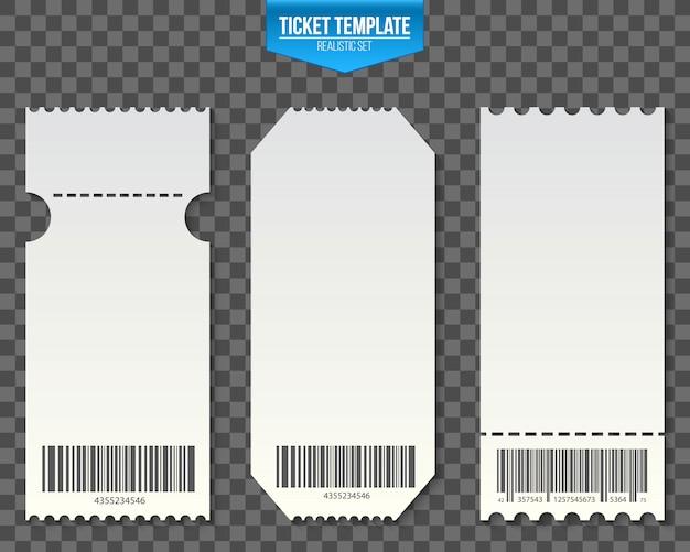 Coupons d'invitation modèle de billet vide.