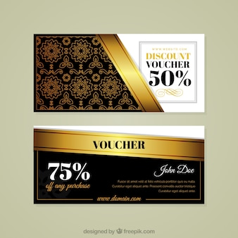 Coupons de réduction d'or