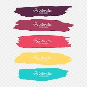 Coups de pinceau colorés