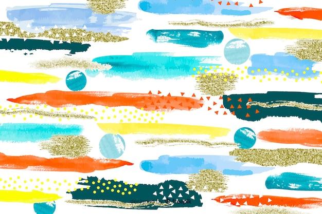 Coups de pinceau abstrait
