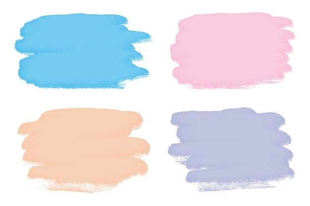 Coups de pinceau aquarelle abstraite