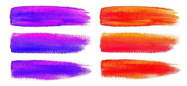 Coups de pinceau aquarelle colorés.