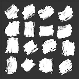 Coups de pinceau blanc texture effet grunge