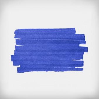 Coups de pinceau bleu