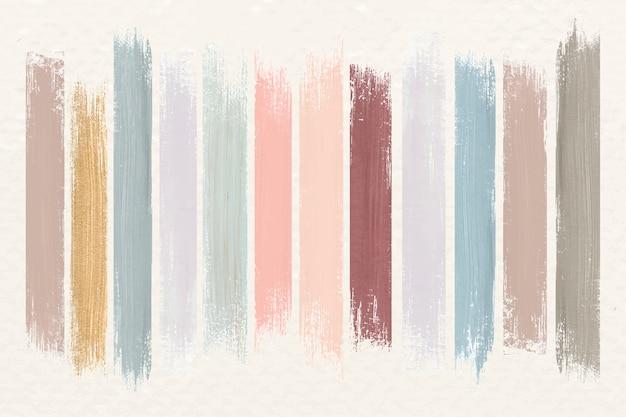 Coups de pinceau couleur terre