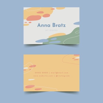 Coups de pinceau dans des couleurs pastel douces pour carte de visite