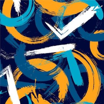 Coups de pinceau dans un motif de couleurs différentes