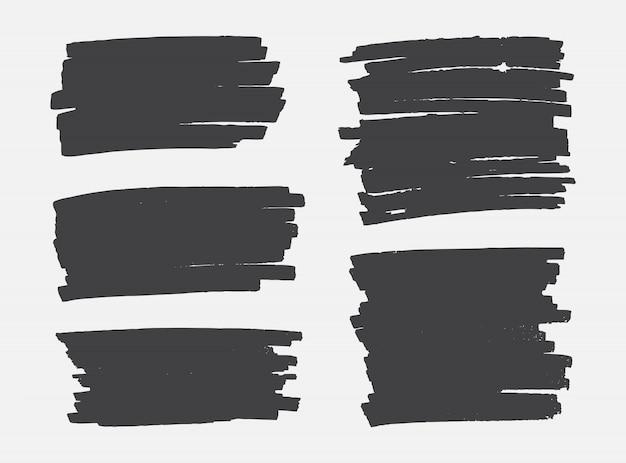 Coups de pinceau grunge noir