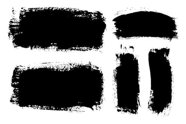 Coups de pinceau noir grunge
