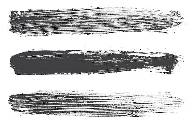 Coups de pinceau noirs