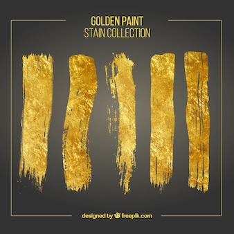 Coups de pinceau d'or mis