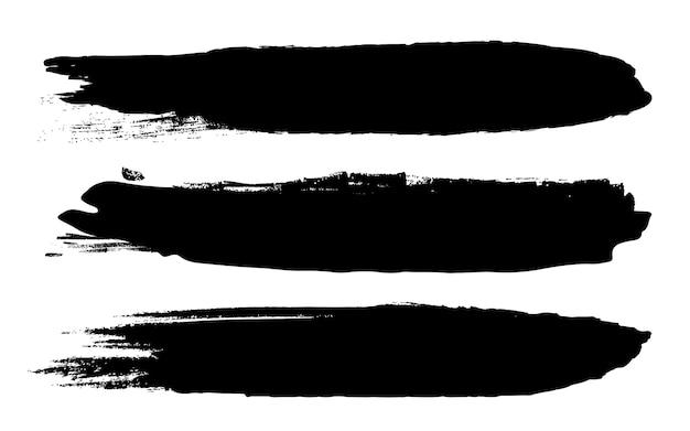 Coups de pinceau rugueux grunge noir.