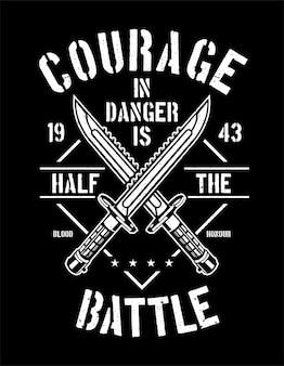 Courage en danger