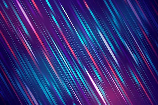 Des courants de lumière rapides et colorés