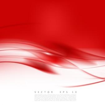 Courbe d'arrière-plan rouge