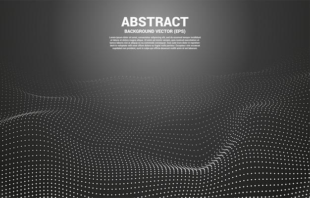 Courbe de contour numérique point et ligne et vague avec filaire. abstrait pour le concept de technologie futuriste 3d