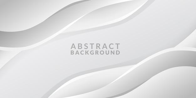 Courbe de flux vague luxe élégant fond blanc bannière abstraite moderne minimalisme numérique
