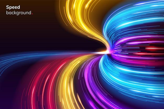 Courbe de lignes de vitesse rapide pour la mise en page sport moderne abstraite de fond de course ou course géométrique dynamique
