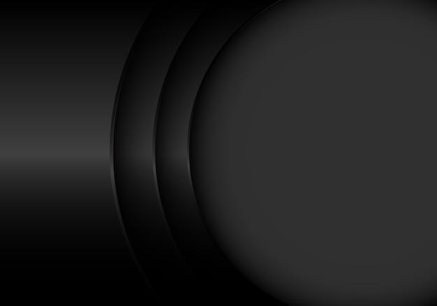 La courbe en métal noir se chevauchent avec le fond de l'espace vide.