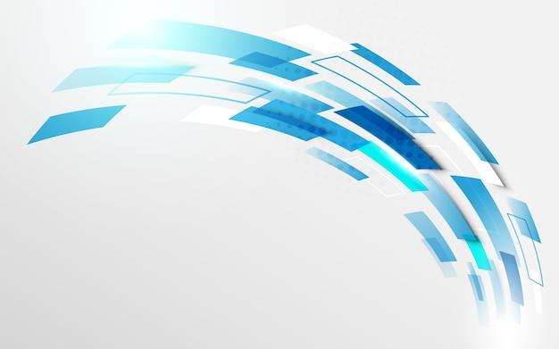 Courbe de mouvement technologie numérique salut tech concept de fond