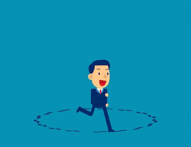 Courir en cercle. direction des affaires