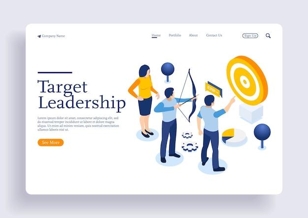 Courir les gens vers l'avant leadership escalader votre chemin action professionnelle avec des personnages