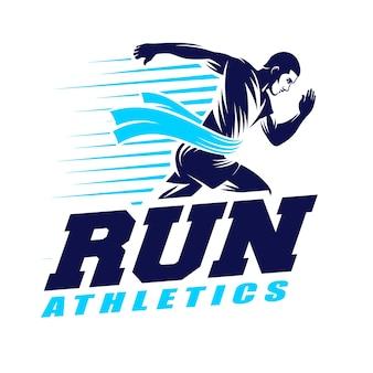 Courir le logo d'athlétisme