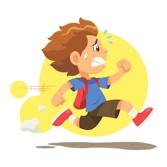 Courir tard à l'école