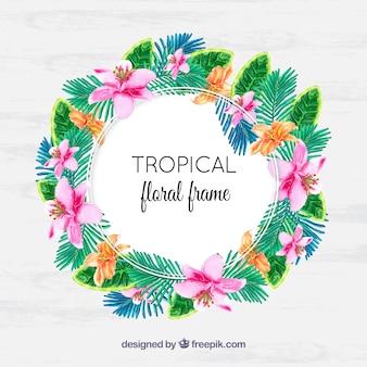 Couronne d'aquarelle tropicale